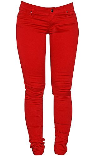 red skinny leg jeans - Google Search