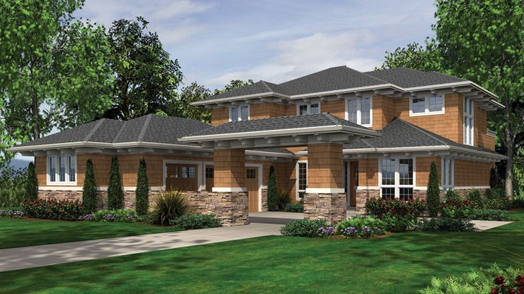 4 Bedroom Prairie Home Plan HOMEPW02651