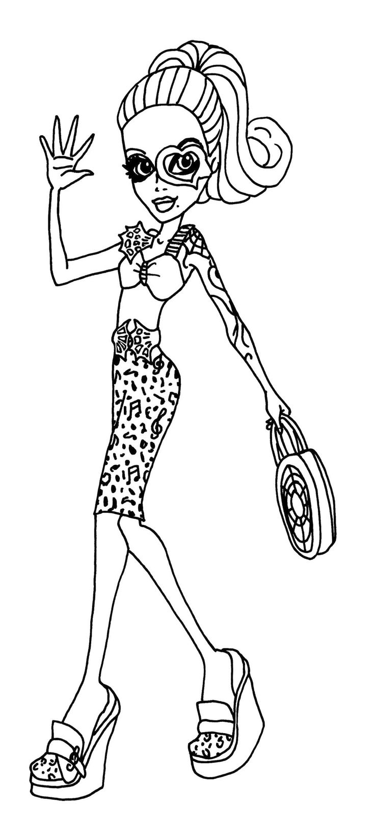 Monster high coloring pages webarella dress ~ 229 best images about Monster High Coloring Page on ...