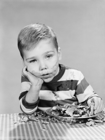 ...remember when you were a kid and always wanted the biggest piece and then couldn't eat it....