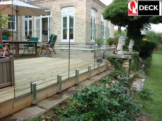14 best deck railings images on pinterest deck railings for Flat pack garden decking