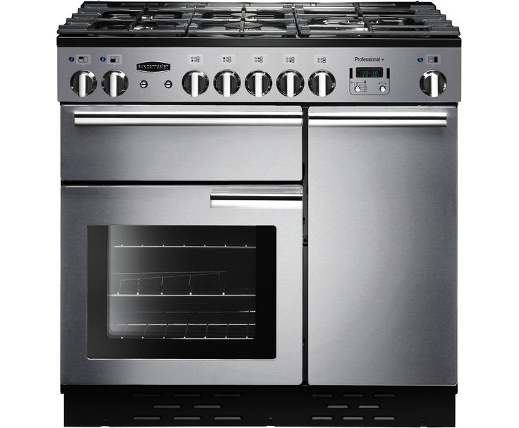 Rangemaster Professional Plus PROP90NGFSS/C 90cm Gas Range Cooker with Electric Fan Oven - Stainless Steel