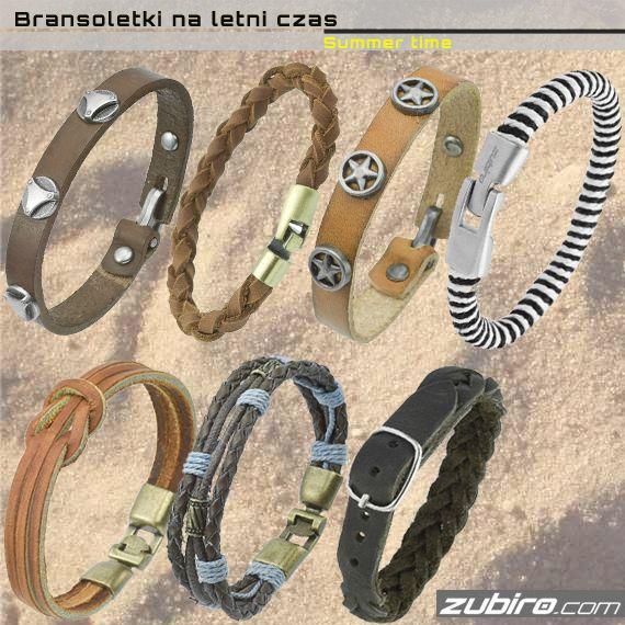 Skórzane bransoletki na lato już dostępne.  Zobacz więcej w naszym sklepie:  http://zubiro.com/bransoletki_skorzane,5,0.html