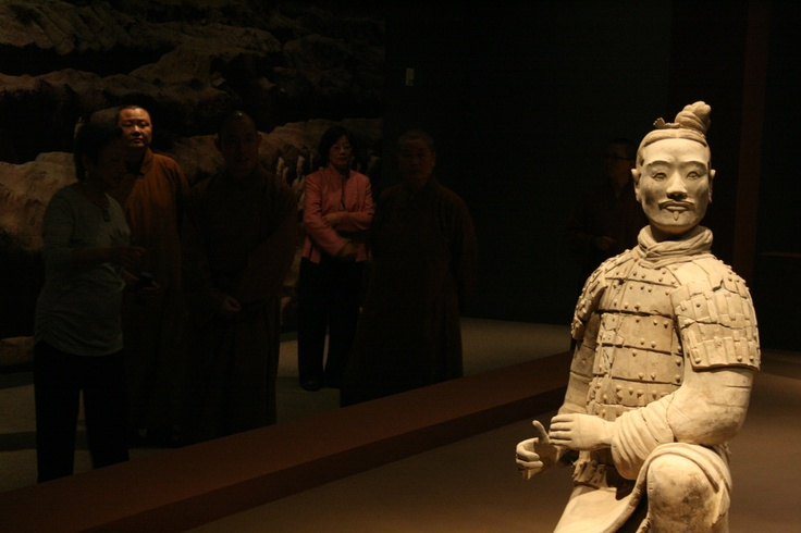 One of the Terra Cotta Warriors statues from the exhibit at Bowers.