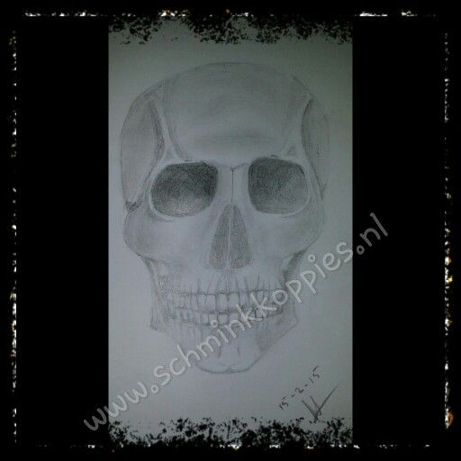 Scull drawed by Schminkkoppies