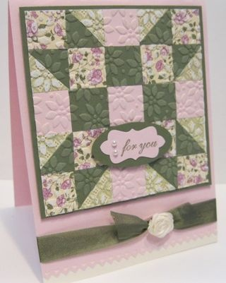 quilt square card