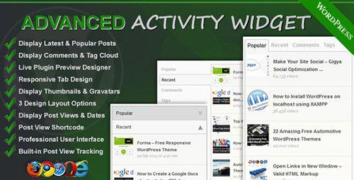 Advanced Activity Widget Visita https://themefreestore.com/advanced-activity-widget/ #FreePremiumWordPressWidgets, #FreeWordPressPlugins Free Premium WordPress Widgets, Free WordPress Plugins  #Actividad, #Activity, #Advanced, #Avanzado, #Plugin, #Plugins, #Widget, #Widgets, #Wordpress actividad, activity, advanced, avanzado, plugin, plugins, widget, widgets, wordpress