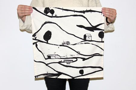 YCN Student Awards 2015 // Yorkshire Tea entry, limited edition screen printed tea towel design #3