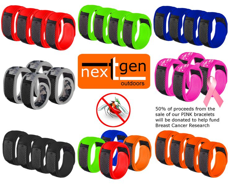 NextGen Outdoors Mosquito Repellent Bracelets. One of Amazon.com top selling products. We utilize a botanical blend of essential oils to help ward of mosquitoes. Comes in a wide assortment of colors. Each 4 pack of bracelets come with 8 repellent inserts. Find us on Amazon.com. #nextgen_outdoors #mosquito_repellent