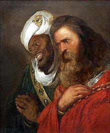 Saladin et Guy de Lusignan après la bataille de Hattin, peinte par Jean Lievens, en 1625.