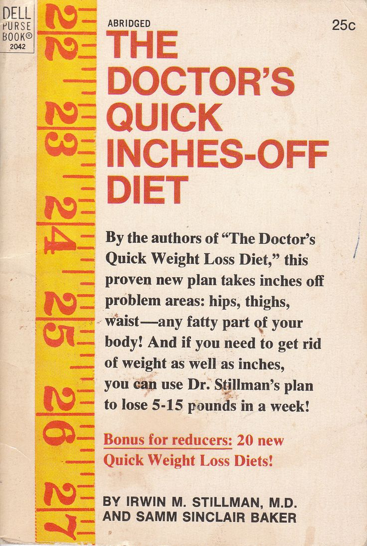 The Doctor's Quick Inches-Off Diet by Irwin M. Stillman 1970