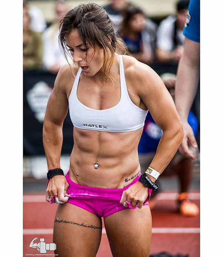 Something is. Girls with hard abs