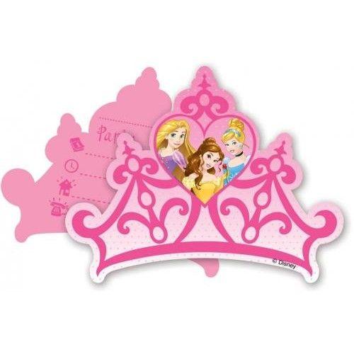 Disney Uitnodigingen Princess: 6 stuks