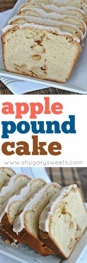 Rich, buttery, cream cheese Pound Cake filled with chunks of Apples. Take it to the next level with a Cinnamon glaze!