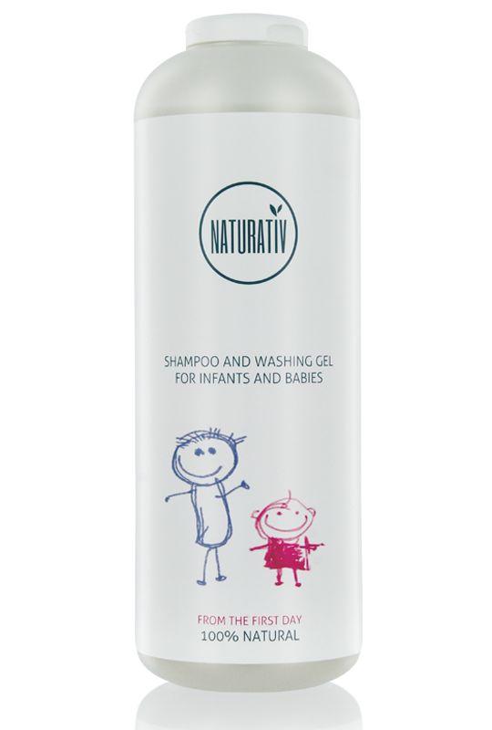 Szampon i Płyn do Kąpieli dla Niemowlaków i Dzieci SWEET NATURATIV został stworzony z myślą o delikatnych włosach i skórze niemowląt i dzieci.  Bardzo łagodnie i dokładnie myje włosy i ciało dziecka nie wysuszając skóry. Zawiera roślinne delikatne środki myjące oraz substancje nawilżające, łagodzące podrażnienia i odbudowujące pożyteczną florę bakteryjną. Posiada subtelny aromat – zapach jest naturalny i hipoalergiczny.