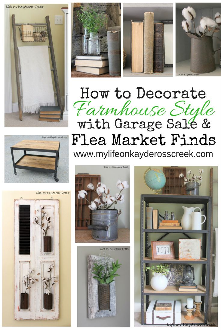 How to add character to your home by decorating with flea market finds. Budget friendly farmhouse accessories from the Brimfield Flea Market.