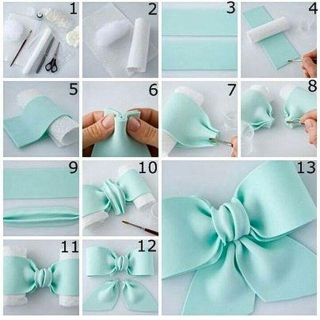 Как сделать бантик из мастики