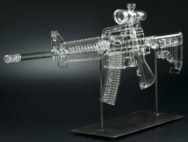 Glass gun pipe(I have a table piece that's the Raygun from Halo it weighs about 45 pounds) n it's siiiiccckkkkooooo