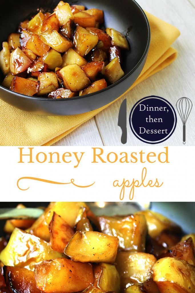 Crispy while soft, sweet while salty, these Honey Roasted Apples are an absolute amazing side to a for pork, chicken and stuffed pastas.