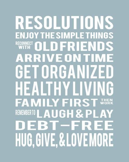 Display yours or your family's New Year's Resolutions in a stylish subway-style art print. Fully custom wording, available in several colors. by PaperPlanePrints, $24.00