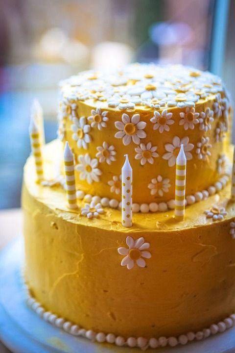 無料の写真: デイジーケーキ, イエローケーキ, 誕生日ケーキ, 黄色, 花, 夏 - Pixabayの無料画像 - 861761