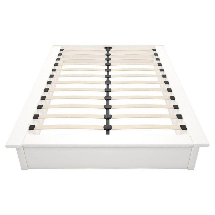 Maven Faux Leather Platform Bed (Queen) - White Faux Leather - Dhp