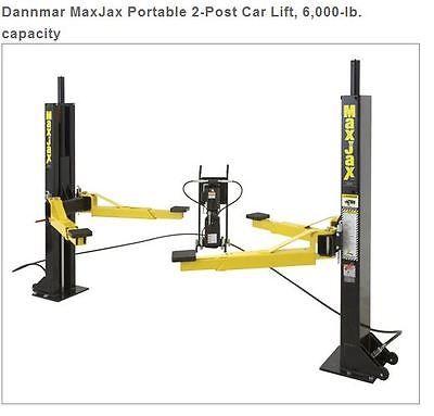 Dannmar MaxJax Portable 2-Post Car Lift, 6,000-lb. capacity