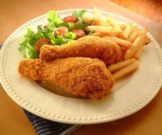 Pollo crocante horneado