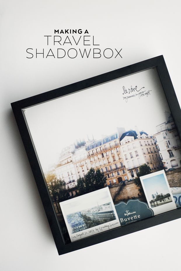Making a travel shadowbox to help document your trip.