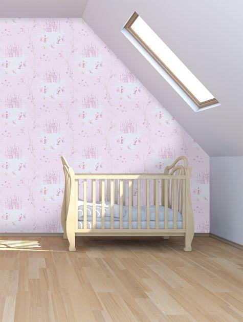 Sanderson Fairy Castle Pink Wallpaper - 214046