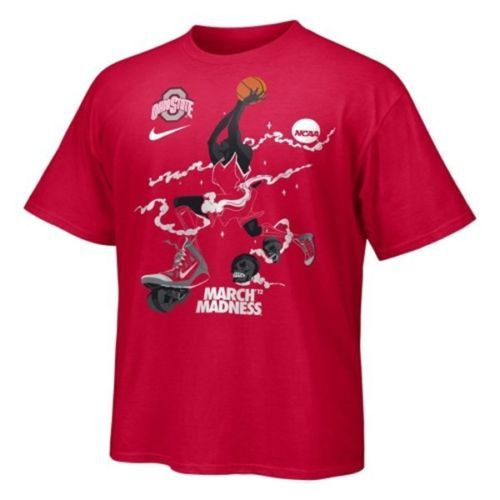 Ohio State Buckeyes Basketball Nike Voodoo March Madness t-shirt new NCAA BUCKS