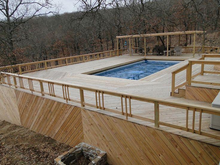 building pool deck intex above ground pools