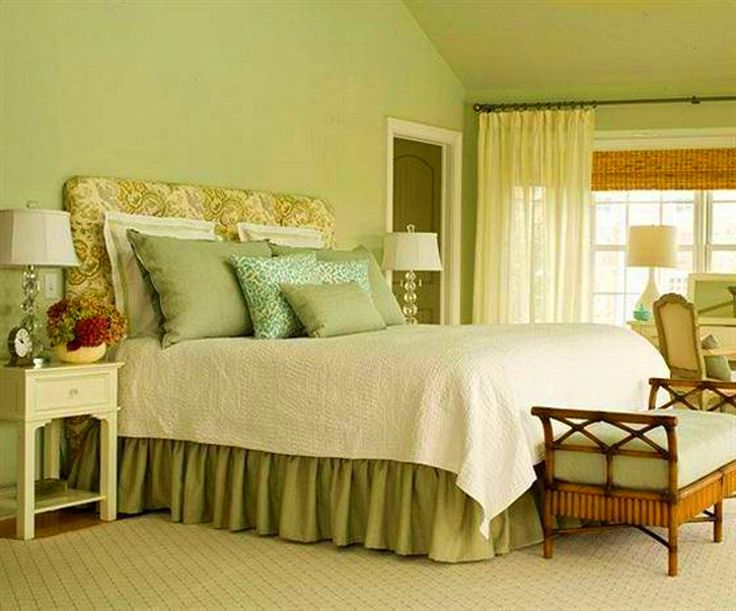 The name of this photograph is Light Green Bedroom Walls. It is ...