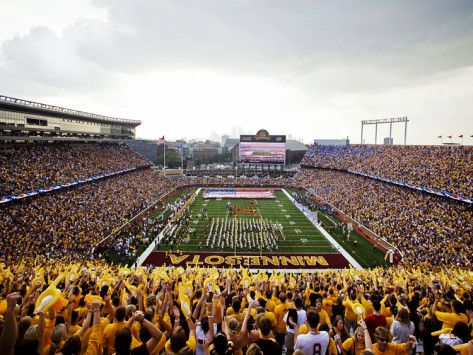 University of Minnesota - Golden Gopher Football at TCF Bank Stadium Photographic Print