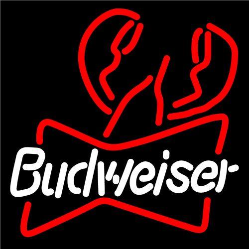 Budweiser Lobster Neon Sign 16x16