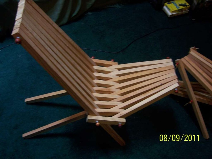 Diy Instructable Folding Camp Chair Table Wood