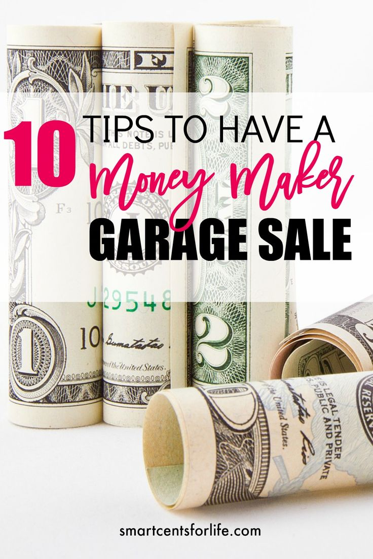 Garage sales are a great way to earn extra cash! These 10 tips would help you to get a money maker garage sale and make at least $800 or more out of it!