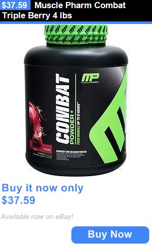 Protein Shakes and Bodybuilding: Muscle Pharm Combat Triple Berry 4 Lbs BUY IT NOW ONLY: $37.59