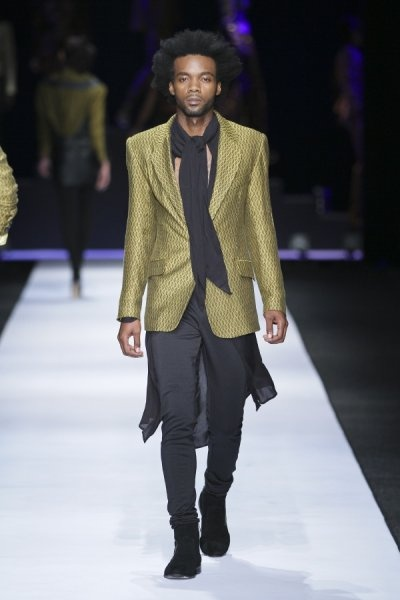 #DTCouture #DTMan. Olive and black, an amazing look for men this winter!