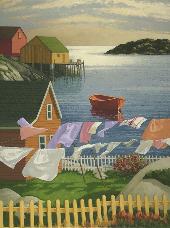 Paul Hannon - The Wind Around Here -  in Peggy's Cove, Nova Scotia