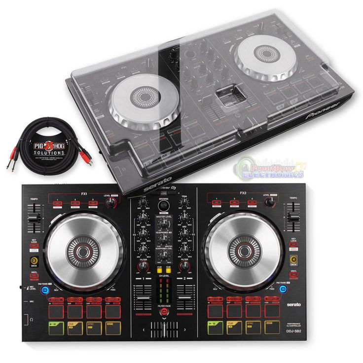 Pioneer DDJ-SB2 Performance DJ Controller & DeckSaver Protective Cover w/ Cable
