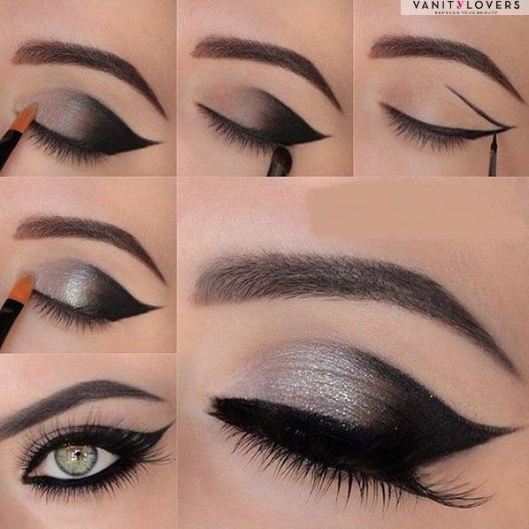 Fantastico cat eyes da riprodurre step by step http://www.mitrucco.it/