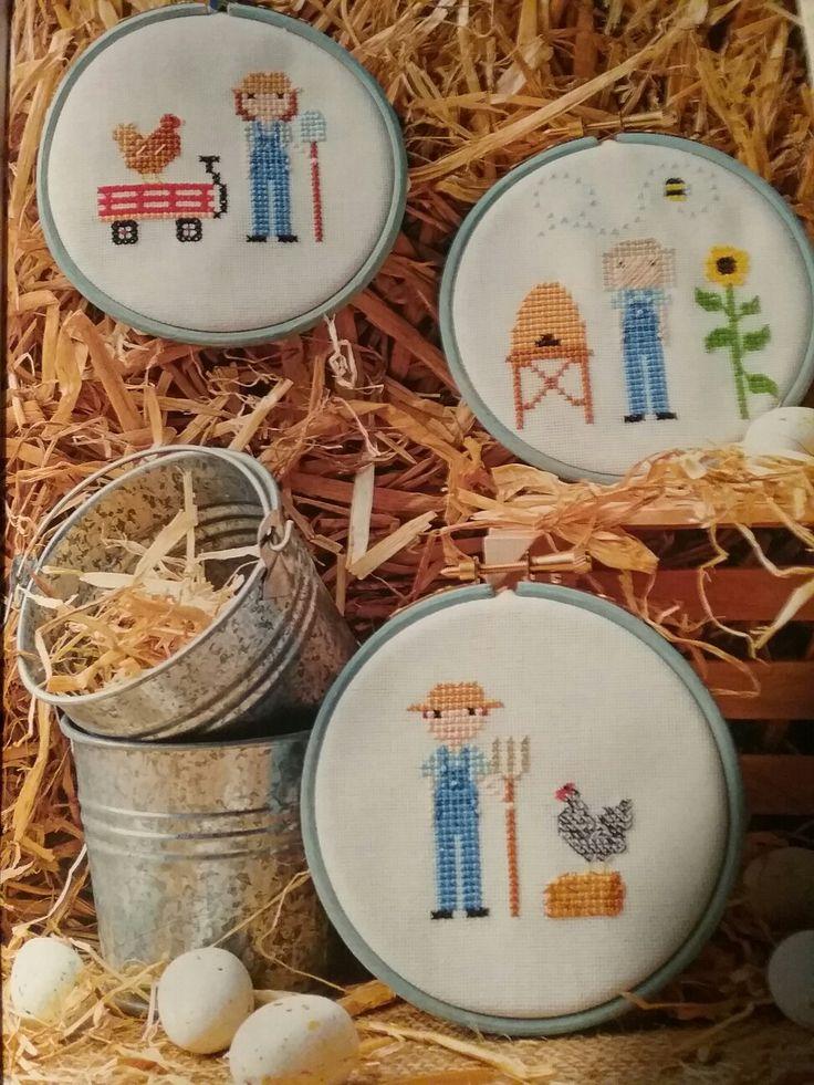 Fun on the farm - Stitch people