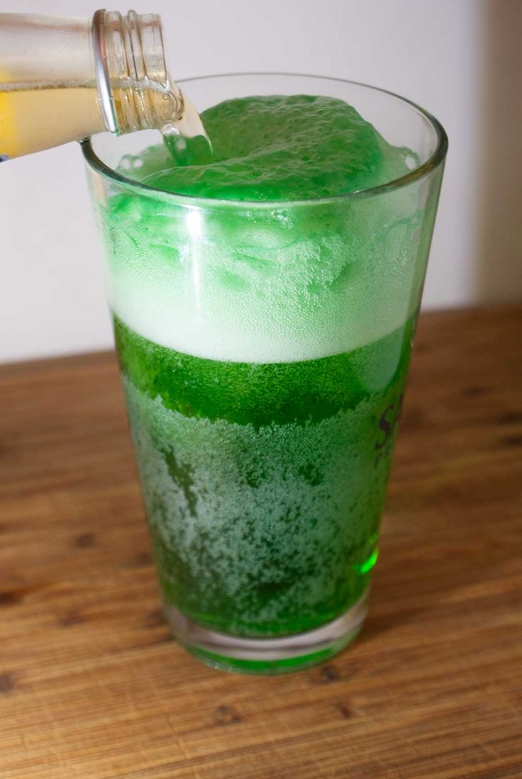 how to make green beer keg