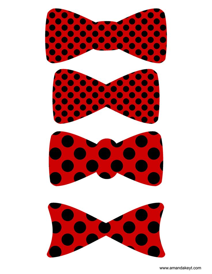 Bowties from Lady Bug Love Bug Printable Photo Booth Prop Set
