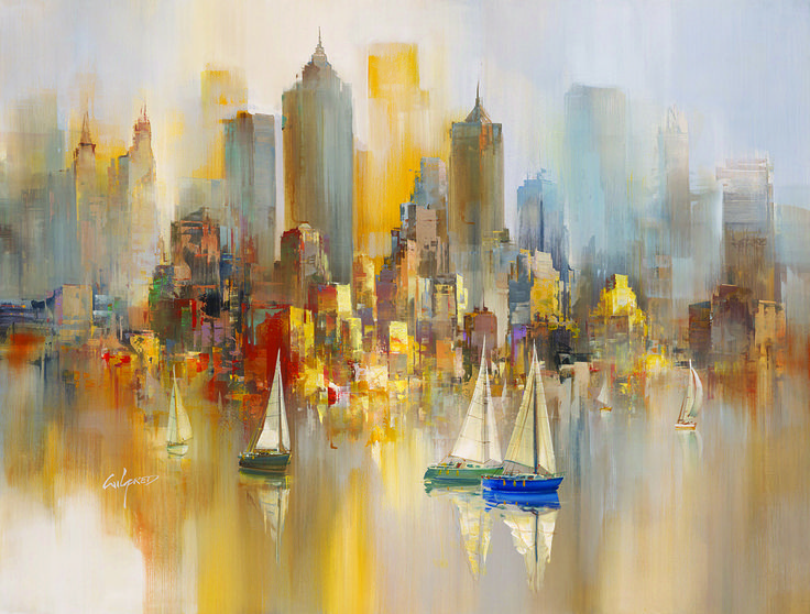 Morning Sails by Wilfred Lang