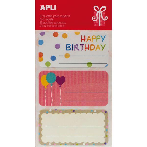 """Comprar 9 Etiquetas Para Marcar Regalos """" Cumpleaños"""" Apli 13999  #regalo #casa #colores #colegio #school #infantil #niños #dibujos #etiquetas"""