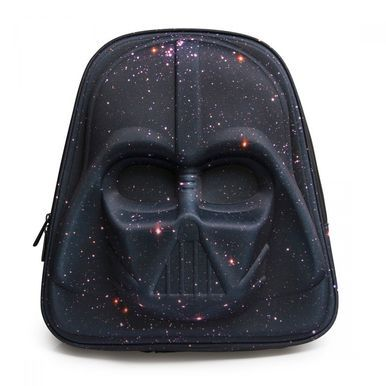 Loungefly Darth Vader Galaxy Print 3D Mold Star Wars Jedi Sith Backpack STBK0019