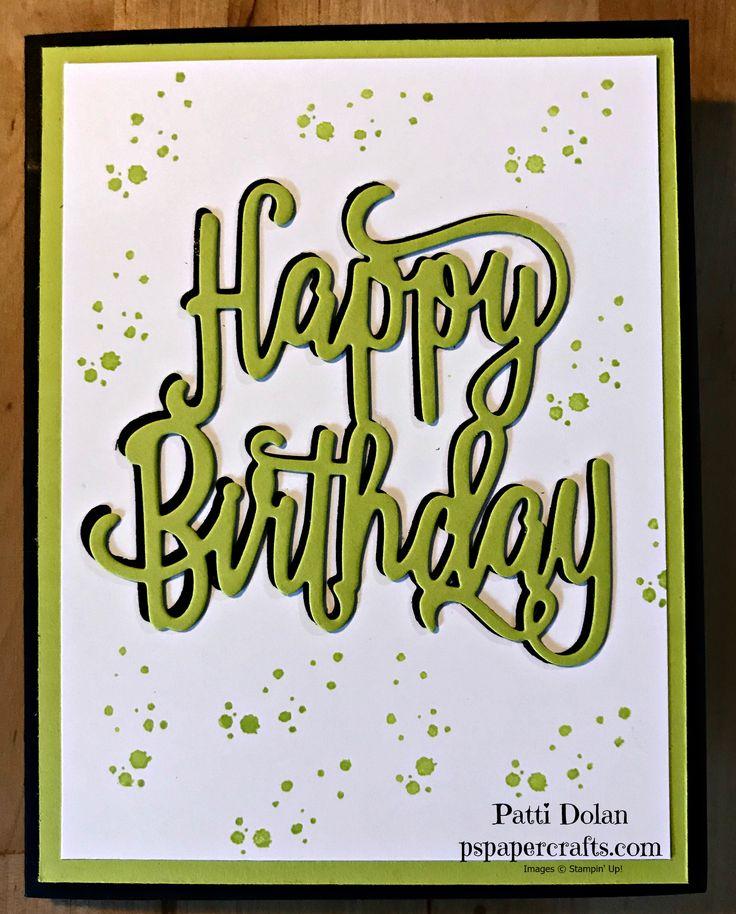 DIY Stampin Up Happy Fun Masculine Happy Birthday Card.