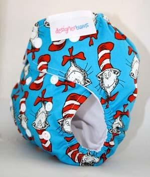 Designer Bums Cotton Print Nappies - Snaps